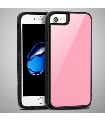 Rose Pink Tempered Glass Duo Phone Case For Apple iPhone 8 PLUS / iPhone 7 PLUS Phone