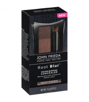 John Frieda Root Blur Colour Blending Concealer Chestnut to Espresso Brunettes, 0.07 oz