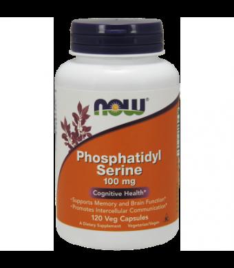NOW Phosphatidyl Serine 100 mg Vegetable Capsules, 120 Ct