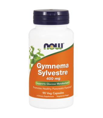 NOW Gymnema Sylvestre 400 mg Vegetarian Capsules, 90 Ct