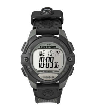 Timex Men's Expedition Digital CAT Watch, Black Resin Strap
