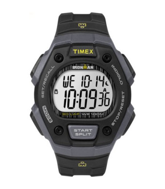Timex Men's Ironman Classic 30 Black/Gray Watch, Resin Strap