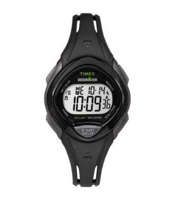 Timex Women's Ironman Sleek 30 Black Watch, Resin Strap