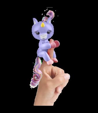 Fingerlings- Interactive Baby Unicorn - Alika (Purple with Rainbow Mane) - By WowWee