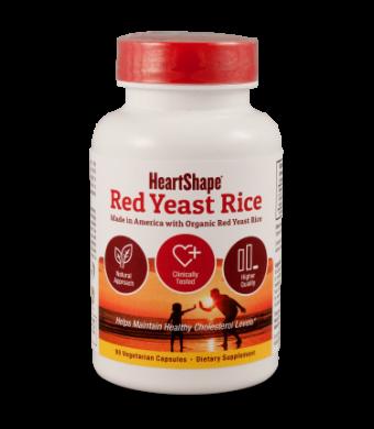 Sylvan HeartShape Red Yeast Rice 1200mg Capsules, 90 Ct