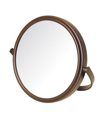 5X-1X Makeup Mirror, Bronze