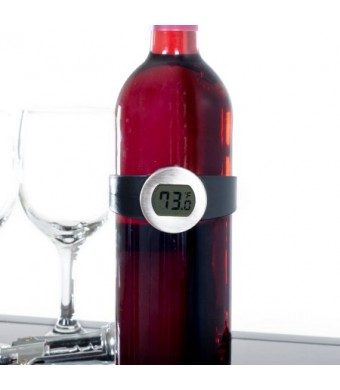 Classic Cuisine Digital Wine Bottle Thermometer