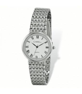 d5eea8dee Primal Steel Mens Chisel Stainless Steel White Dial Watch