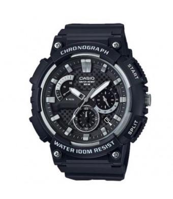 Casio Men's 3D Dial Chronograph Watch, Black - MCW200H-1AV