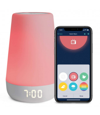 Hatch Rest+ Baby Sound Machine, Night Light, Time-to-Rise Plus Audio Monitor