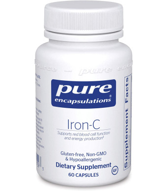 Pure Encapsulations - Iron-C - Hypoallergenic Supplement Supports Optimal Muscle Function - 60 Capsules