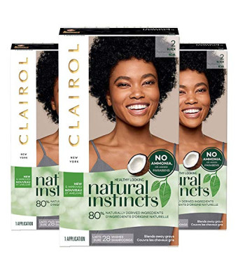 Clairol Natural Instincts 2 - Black/Noir 1 Kit (Pack of 3)