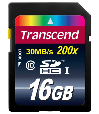 Transcend 16GB Class 10 SDHC Flash Memory Card (TS16GSDHC10E)