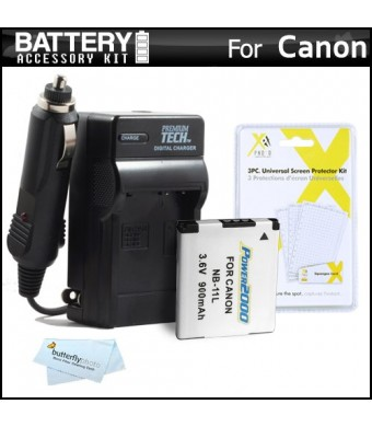 Battery And Charger Kit For Canon Powershot Elph 130 IS, 115 IS, A2500 ELPH 135, 140 IS, ELPH 150 IS, 340 HS, SX400 IS, ELPH 170 IS, ELPH 160, SX410