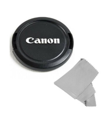 CowboyStudio 58MM Lens Cap Snap-On for Select Cannon models with Microfiber Cleaning Cloth