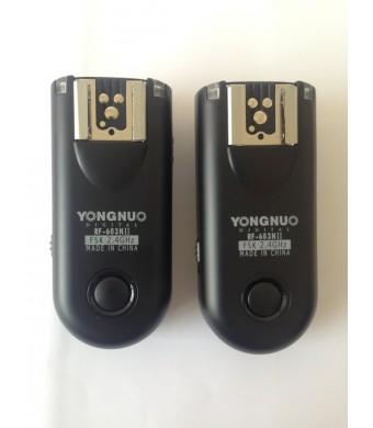 Yongnuo RF-603 II 16-Ch Wireless Flash Trigger for Canon 3-Pin Connection 1D/5D/7D/10D/20D/30D/40D/50D Cameras, 2.4GHz, 1/320sec Sync Speed