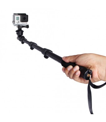 48-inch Lightweight Photo Video Professional Monopod Camera Extender Pole for Gopro Hero 1 2 3 3+ 4 Digital Camera and Cell Phone