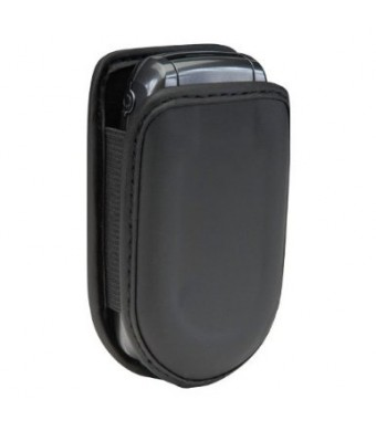 Universal Cell Phone Flip Case fits most Prepaid Phones - Black