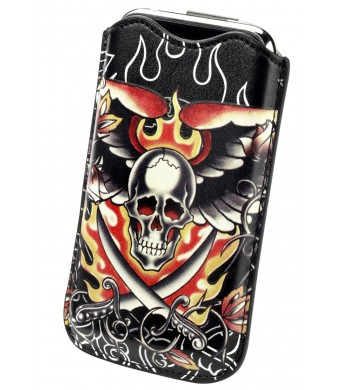 Ed Hardy Universal Cross Skulls Sleeve for iPhone 3G