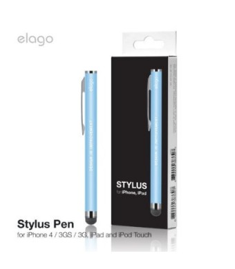elago Stylus with Clip for All iPhones, iPad(Air/Mini) and Galaxy Tab (Pastel Blue)