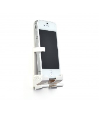 Dockem White: Damage-Free Smartphone, Tablet, and eReader Wall Mount and Dock (iPhone, iPhone 4, 4S, 5, Android phones, New iPad 3, iPad 2, iPad 1, S