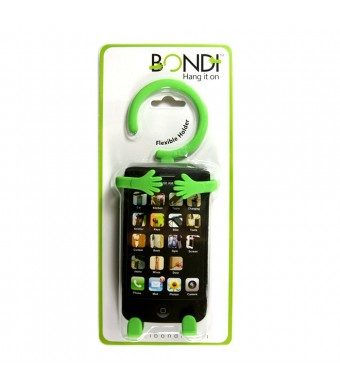 Bondi Unique Flexible Cell Phone Holder Made of High Quality Silicon - Retail Packaging - Green