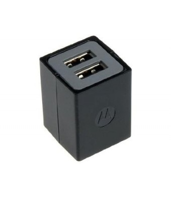 Motorola Eco Friendly Dual Port USB Charger Bulk Packaging (Black)
