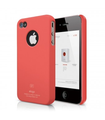 elago S4 Slim Fit Case for iPhone 4/4S + Logo Protection Film Included (Soft Feeling Italian Rose)
