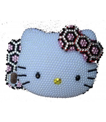 Hello Kitty BLING Pink Leopard 3d Handmade Crystal and Faux Pearl Iphone 4 case/cover by Jersey Bling