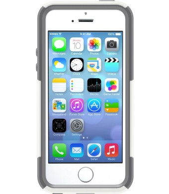 OtterBox [Commuter Series] Apple iPhone 5 and iPhone 5S Case - Frustration-Free Packaging Protective Case for iPhone - White/Gray