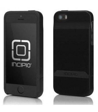 Incipio Stashback for iPhone 5 - Retail Packaging - Obsidian Black / Obsidian Black