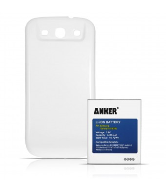 [540 Days Warranty] Anker 4400mAh Replacement Extended Battery for Samsung Galaxy S3, GT-I9300, I535(Verizon), T999(T-Mobile), I747(ATandT), R530(U.S