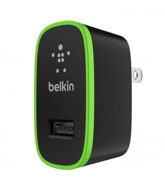 Belkin Home and Travel Wall Charger with USB Port - 2.1 AMP / 10 Watt (Black)