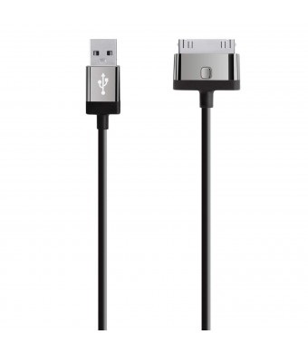 Belkin MIXIT 30-Pin ChargeSync Cable for iPhone 4/4S/3/3S, iPad 3G and iPad 2 (Black)
