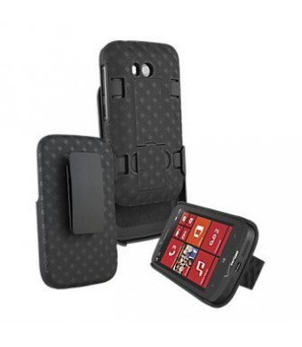 Oem Nokia Lumia 822 Shell Combo w/Holster and Kickstand