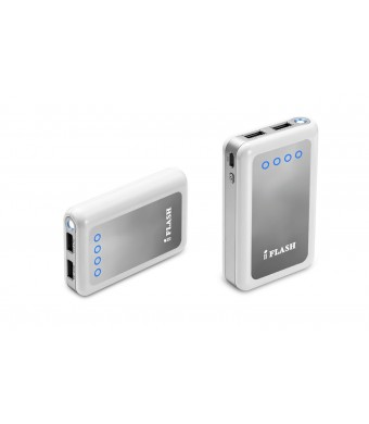 iFlash Dual USB 8400mah External Battery Charger Source with 2.6A Output (fast) Heavy Duty Ouput Support iPad 1 / 2 / 3 / 4, iPad Mini, iPhone 5 / 4S
