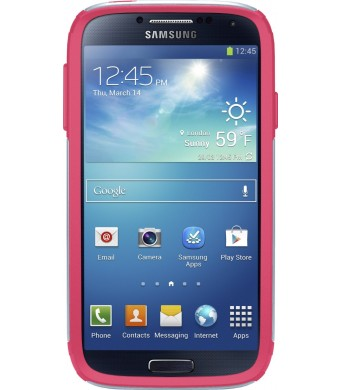 OtterBox Commuter Series Case for Samsung Galaxy S4 - Frustration-Free Packaging - Wild Orchid (Powder Grey/Blaze Pink)