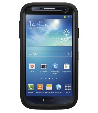 OtterBox Defender Series Case for Samsung Galaxy S4 - Frustration-Free Packaging - Black (Black/Black)