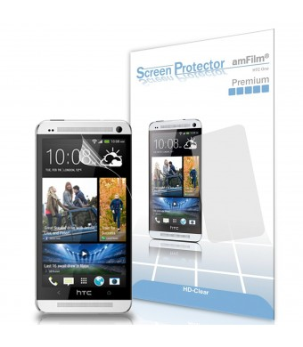 HTC One Screen Protector, amFilm Premium HD Clear Screen Protector for HTC One M7 (2013) (3-Pack) [Lifetime Warranty]