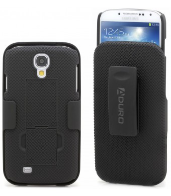 """Aduro Shell Holster Combo Case for Samsung Galaxy S4 """"Lifetime Warranty""""  with Kick-Stand and Belt Clip (ATandT, Verizon, T-Mobile, US Cellular and"""