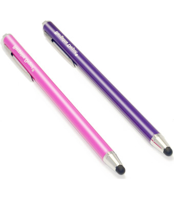 "Bargains Depot [0.18-inch Rubber Tip Series] 2Packs Stylus (Purple and Pink) --- (length: 5.5"" , tips: 0.18"" Diameter) SILM / ACCURATE / THINNER TIP"