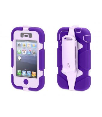 Purple/Lavender Heavy Duty Survivor All-Terrain Case for iPhone 4/4s