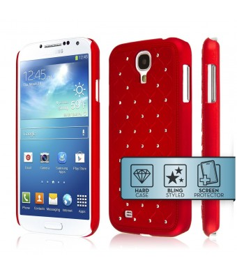 Galaxy S4 Case, EMPIRE GLITZ Slim-Fit Case for Samsung Galaxy S4 - Bling Accent Red