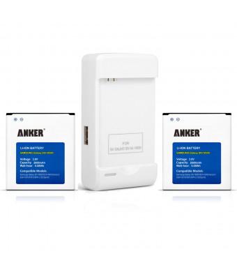 Anker 2 x 2600mAh Li-ion Batteries for Samsung Galaxy S4, S IV, I9505, Galaxy S4 LTE I9506, M919 (T-Mobile), I545 (Verizon), I337 (ATandT), L720 (Spr