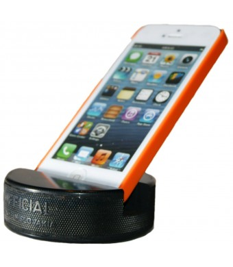 PUCKUPS - Indestructible Hockey Puck Cell Phone Stand - The Best Smartphone / Iphone 6 / 5s / 5c / Samsung Galaxy / HTC / Ipod / Ipod Touch / Mp3 Pla