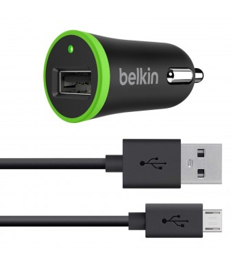 Belkin Car Charger with 4-Foot Micro USB ChargeSync Cable, 2.1 AMP / 10 Watt (Compatible with Amazon Fire Phone, all Kindle and Kindle Fire Models)
