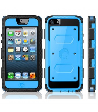 iPhone 5C Case, i-Blason Armorbox Dual Layer Hybrid Protective Case with Built-in Screen Protector and Impact Resistant Bumpers for Apple iPhone 5C (
