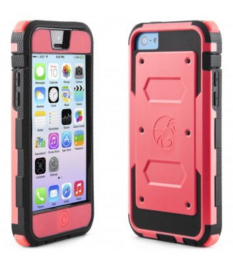 i-Blason Armorbox for Apple iPhone 5C Case - Dual Layer Hybrid Full-body Protective Case with Front Cover and Built-in Screen Protector and Impact Re