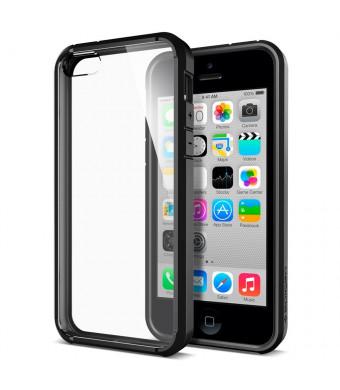 iPhone 5C Case, Spigen [AIR CUSHION] [+Screen Shield] Apple iPhone 5C Case Bumper ULTRA HYBRID Series [Black] [1 Screen Protector + 2 Design Graphics