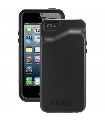 OtterBox [Commuter Series] Apple iPhone 5 and iPhone 5S Wallet Case - Retail Packaging Protective Case for iPhone - Black